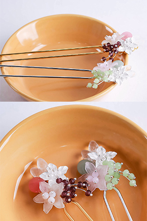 나리꽃유라인비녀_DIYSET