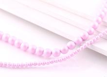 핑크무광알진주1줄