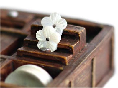 11mm둥근자개꽃장식