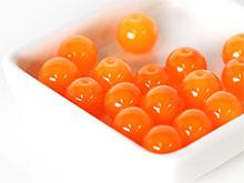 오렌지투명합성원석구슬