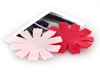 65mm펠트카네이션꽃잎