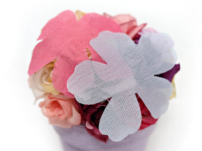 65mm컬러쉬폰꽃잎