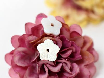 10mm평면자개꽃