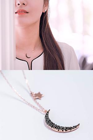 ★Silver★쿼터문은목걸이