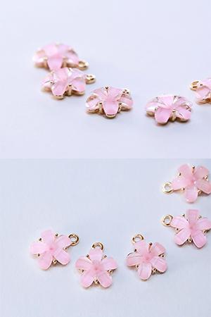 큐빅핑크꽃
