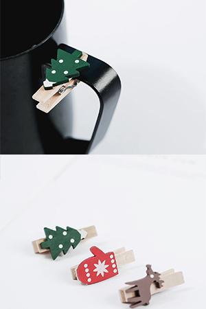 크리스마스나무집게5개