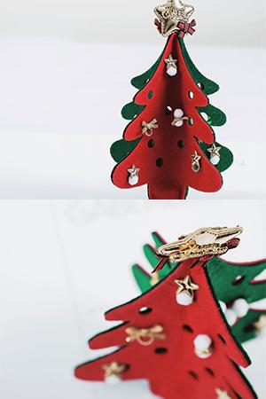 작은크리스마스트리펠트장식