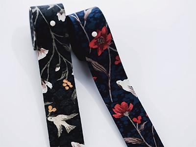 꽃을찾은새원단리본25mm