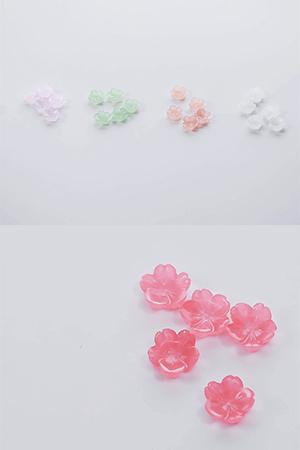 소담한작은꽃잎장식10개