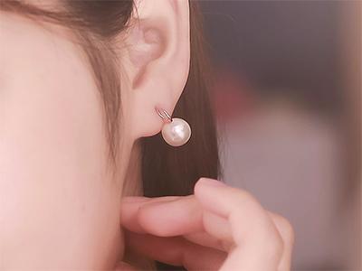 ★Silver★진주오링캐슬은귀걸이
