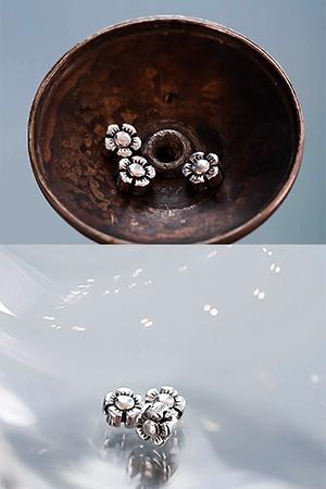 4.9mm다섯잎꽃은구멍장식