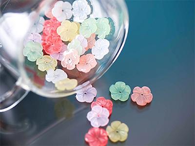 은은한다섯꽃잎장식10개