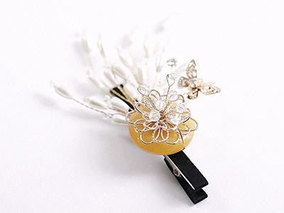 꽃내음진주집게핀