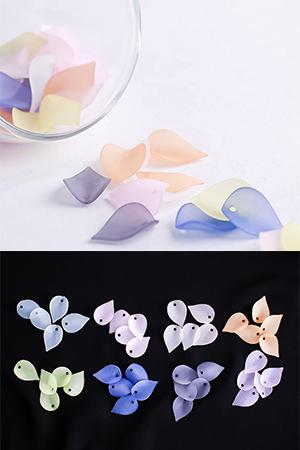 20mm투명볼록꽃잎장식10개