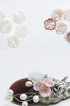 10mm천연자개다섯잎꽃