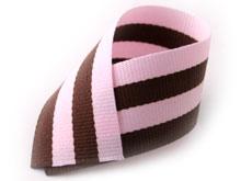 핑크밤색포리스판스트라이프골지