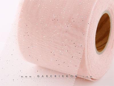 핑크반짝이하이브망사리본